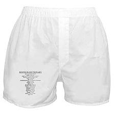 Redneck Dictionary Boxer Shorts