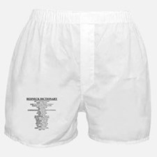 Redneck Dictionary Boxer Shorts