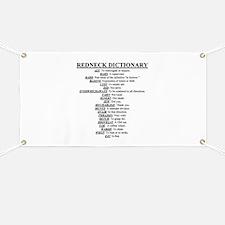 Redneck Dictionary Banner