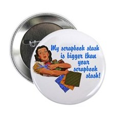 "Scrapbook Stash 2.25"" Button"