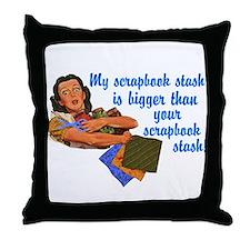 Scrapbook Stash Throw Pillow