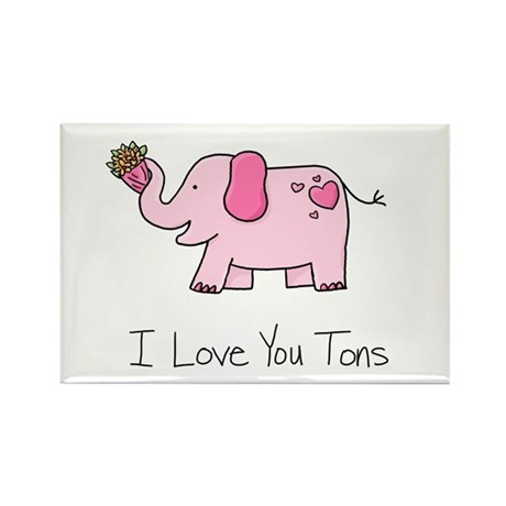 I Love You Tons - Rectangle Magnet (10 pack)