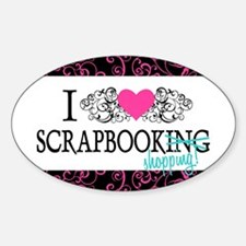 Scrapbook Shopping Oval Decal