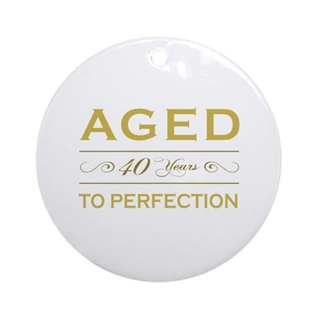 Stylish 40th Birthday Ornament (Round)