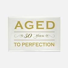 Stylish 50th Birthday Rectangle Magnet