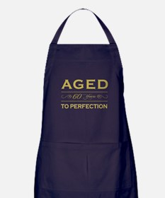 Stylish 60th Birthday Apron (dark)