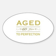 Stylish 60th Birthday Oval Decal