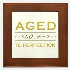 Stylish 60th Birthday Framed Tile