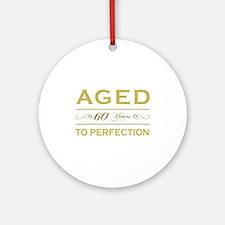 Stylish 60th Birthday Ornament (Round)