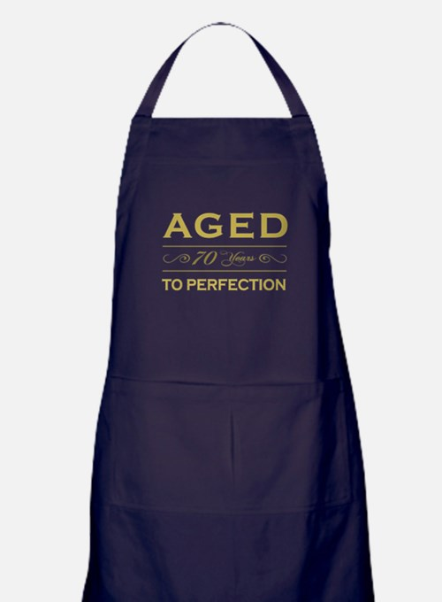 Stylish 70th Birthday Apron (dark)