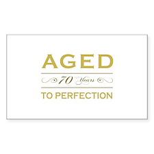 Stylish 70th Birthday Rectangle Decal
