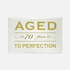 Stylish 70th Birthday Rectangle Magnet