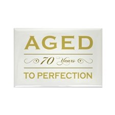 Stylish 70th Birthday Rectangle Magnet (10 pack)