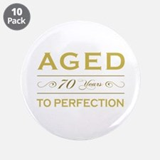 "Stylish 70th Birthday 3.5"" Button (10 pack)"