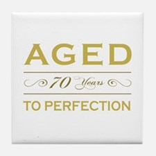 Stylish 70th Birthday Tile Coaster