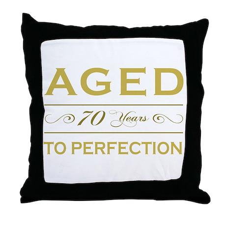 Stylish 70th Birthday Throw Pillow