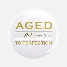 "Stylish 90th Birthday 3.5"" Button"