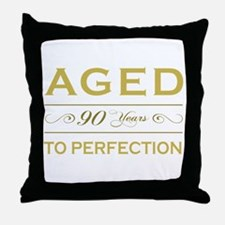 Stylish 90th Birthday Throw Pillow