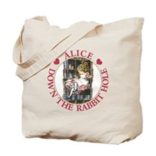 ALICE DOWN THE RABBIT HOLE Tote Bag