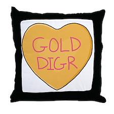 GOLD DIGR Heart - Throw Pillow