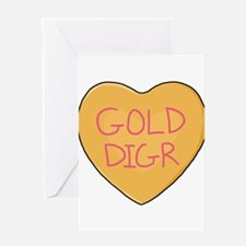 GOLD DIGR Heart - Greeting Card