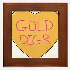 GOLD DIGR Heart - Framed Tile