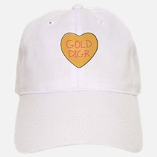 GOLD DIGR Heart - Baseball Baseball Cap