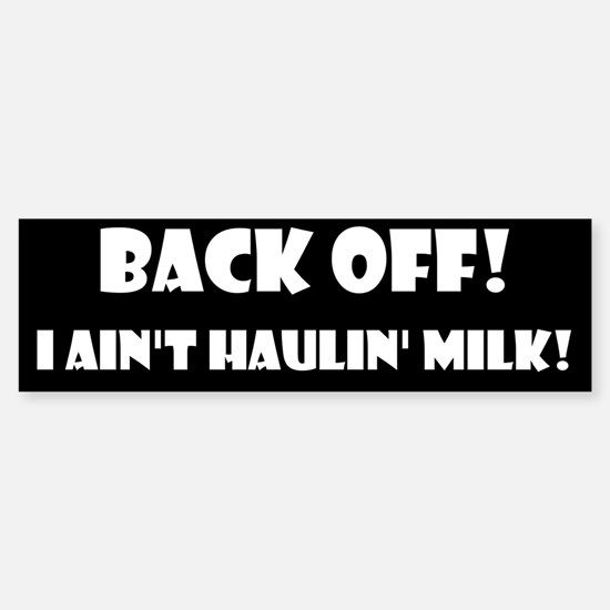 Back Off! Bumper Car Car Sticker
