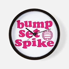 Bump Set Spike Volleyball Wall Clock