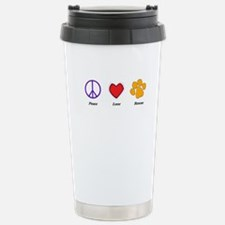 Peace, Love and Rescue Stainless Steel Travel Mug