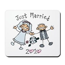 Stick Just Married 2010 Mousepad