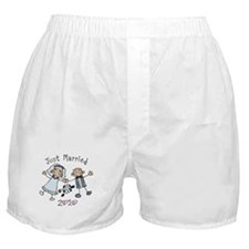 Stick Just Married 2010 Boxer Shorts