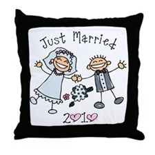 Stick Just Married 2010 Throw Pillow