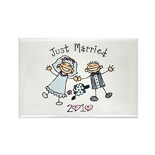 Stick Just Married 2010 Rectangle Magnet
