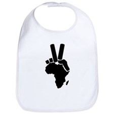 Africa Peace Sign Bib