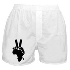 Africa Peace Sign Boxer Shorts