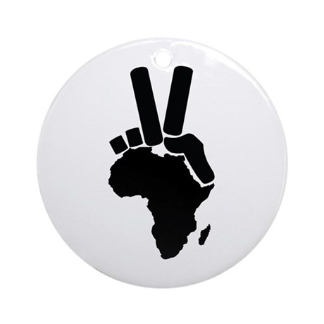 Africa Peace Sign Ornament (Round)