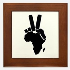 Africa Peace Sign Framed Tile