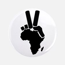 """Africa Peace Sign 3.5"""" Button"""