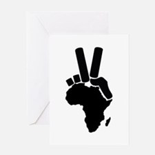 Africa Peace Sign Greeting Card