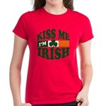 Kiss Me I'm Irish Women's Dark T-Shirt