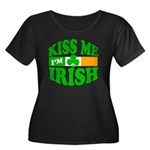 Kiss Me I'm Irish Women's Plus Size Scoop Neck Dar