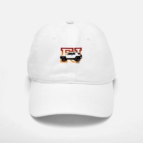 FJ Cruiser Red-Orange Baseball Baseball Cap