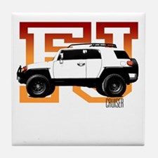 FJ Cruiser Red-Orange Tile Coaster