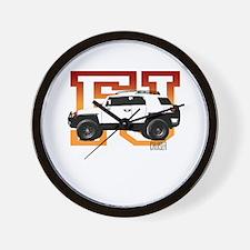 FJ Cruiser Red-Orange Wall Clock
