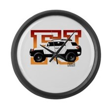 FJ Cruiser Red-Orange Large Wall Clock