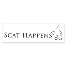 Scat Happens! Bumper Bumper Sticker