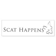 Scat Happens! Bumper Car Sticker