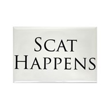 Scat Happens! Rectangle Magnet