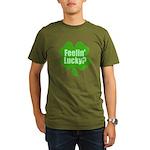 Feelin Lucky? Funny St. Patri Organic Men's T-Shir
